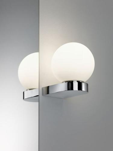 "APPLIQUE ""BHARANI"" G9 33W CHROME/BLANC IP44"