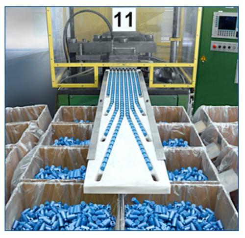 Industrielle Flaschenproduktion
