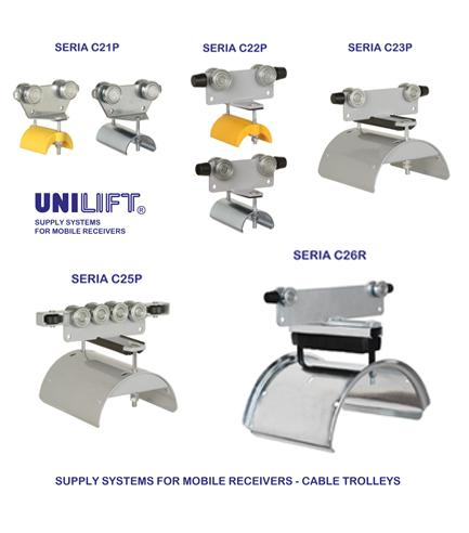Cable trolleys for C-rail system - C2