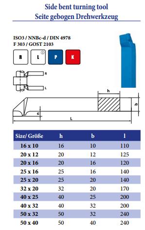 Side bent turning tool