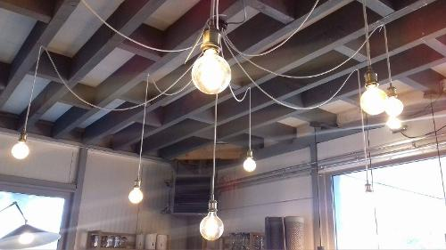 Lampe suspension araignée sur mesure
