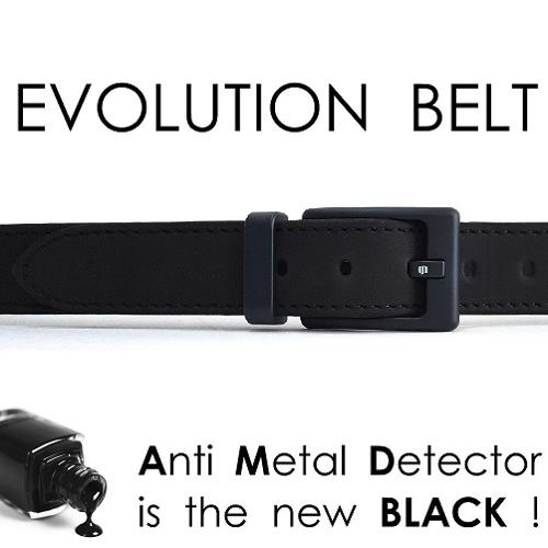 Evolution Belt AntiMetalDetector total black