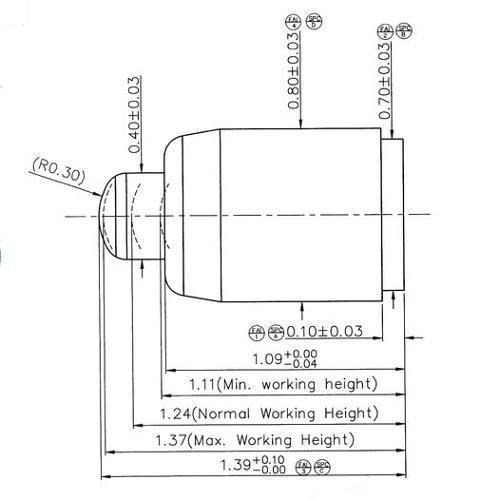 1,39mm kleiner Batterieladekontakt / Federkontakt...