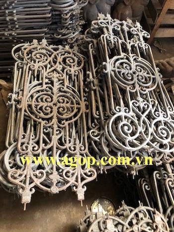 Gray grey cast iron fence Vietnam