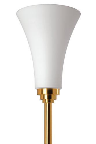 Твердая бронзовая напольная лампа