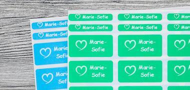 Namens- und Motivaufkleber