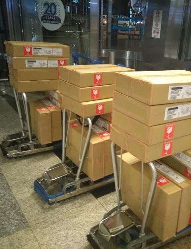 On board courier, expedite delivery