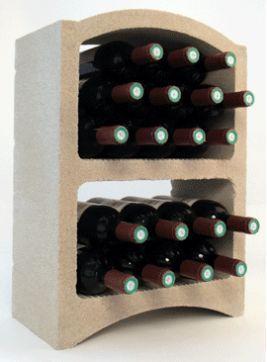 Bloc Cellier Portabottiglie Standard Pietra Bianca