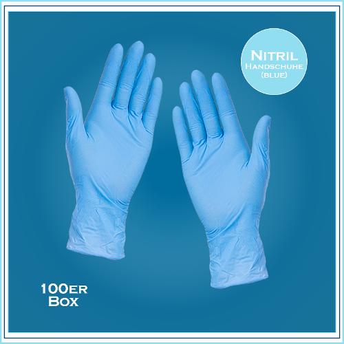 Med. Handschuhe, Nitril 30Plus (blau)