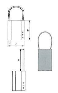 Plaquette alu de marquage vierge 51x76mm