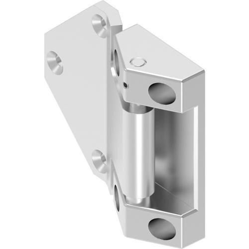 Cerniera 180° avvitabile in acciaio inox regolazione