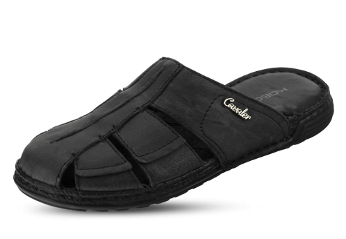 Black men's slippers