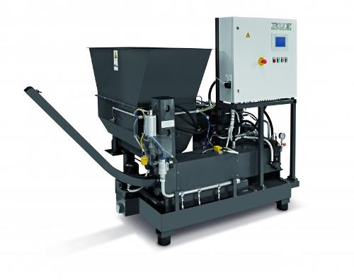 RUF briquette press for grinding sludge / grinding chips