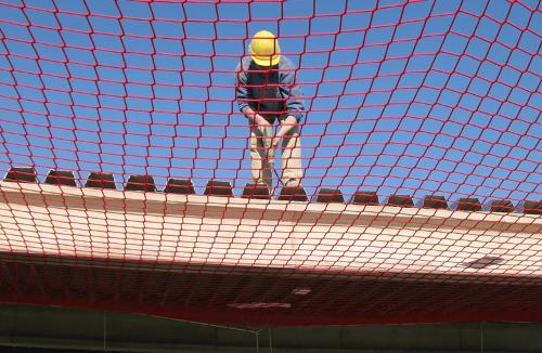 Fall arrest nets