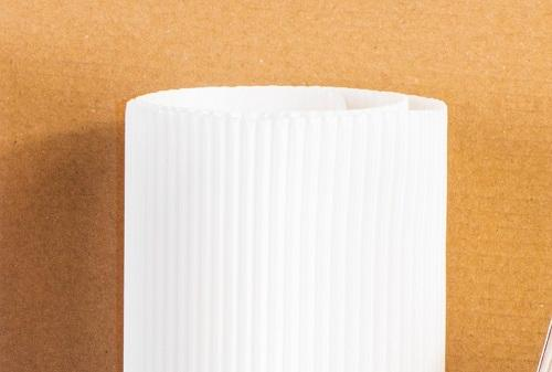 Single faced corrugated paper or cardboard