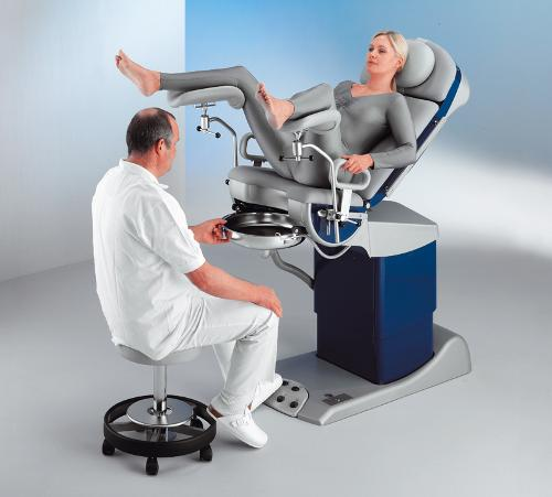 Examination and treatment chair for urology