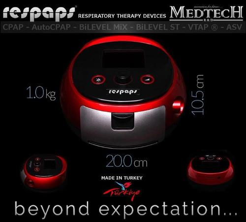Respaps Bilevel ST (Bipap ST) with Embedded Humdifier