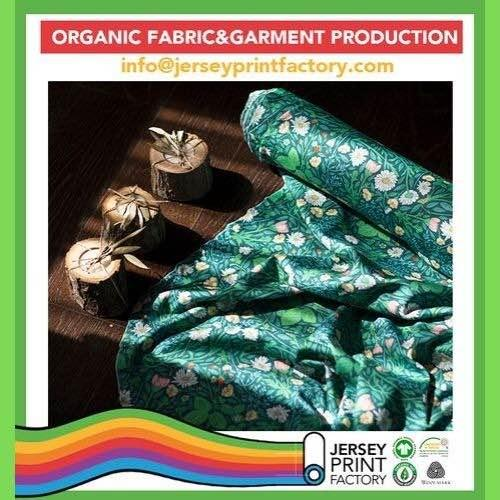 Custom digital printed organic cotton fabrics for kids wear