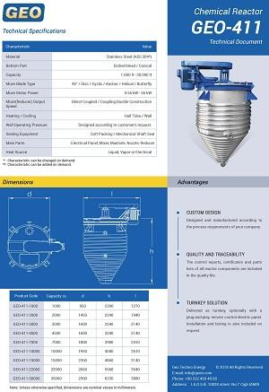 Stainless Steel Chemical Mixer Reactors