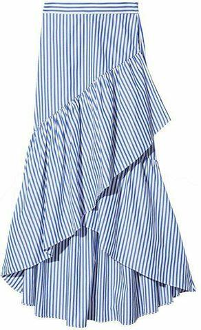 wrap around striped skirt