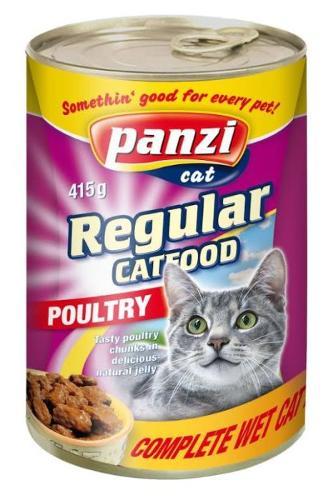 Консервы для кошек с мясом птицы, 415г (Panzi)