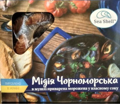 мидия черноморская замороженная ТМ Sea Shell