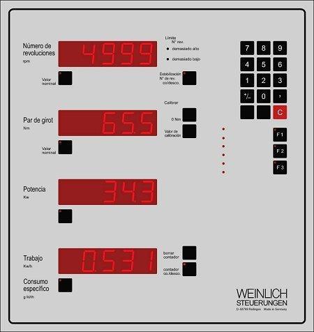 Técnica de control y medición para bancos de prueba de la po