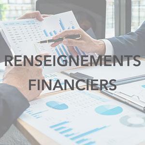 Renseignements financiers