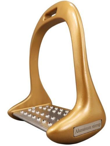Golden Caballo de estribo de aluminio