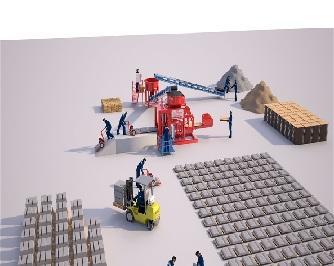 Станок по производству шлакоблоков