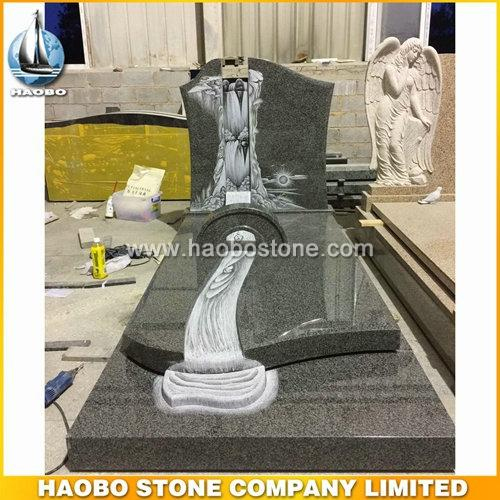 Haobo Factory Laser Etching Granite Headstones Wholesale