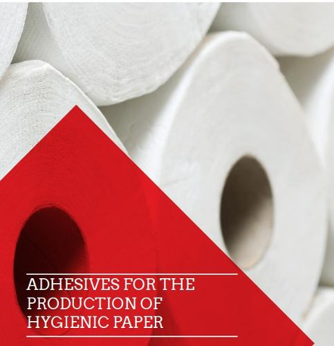 Adhesives for the hygienic paper production