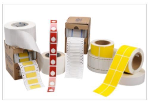 Etiketten unterschiedlicher Materialien