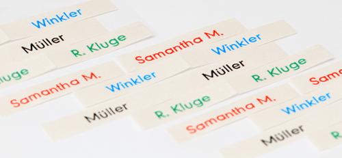 printed name labels