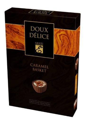 EMOTI Caramel Basket Milk Chocolates, 125g