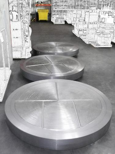 Forged discs and tubesheets