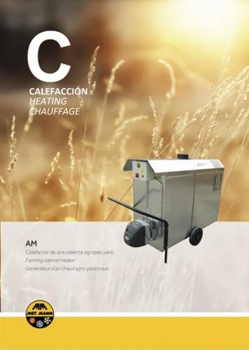 Generador de aire caliente para invernaderos
