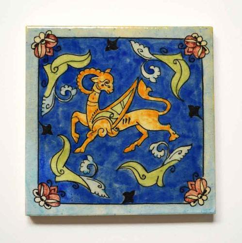 Winged Goat Tile
