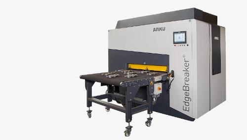 Deburring machine for thick parts