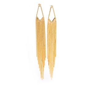 Gold Long Chain Earrings