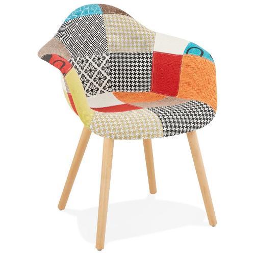 Chaise design et bohème patchwork OPHELIE en tissu