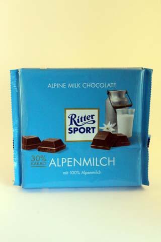 RitterSport Alpine Milk Chocolate 250gr