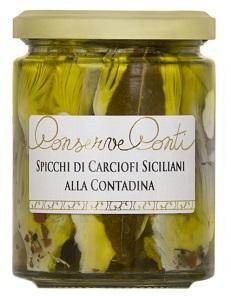 Spicchi di carciofi siciliani alla contadina