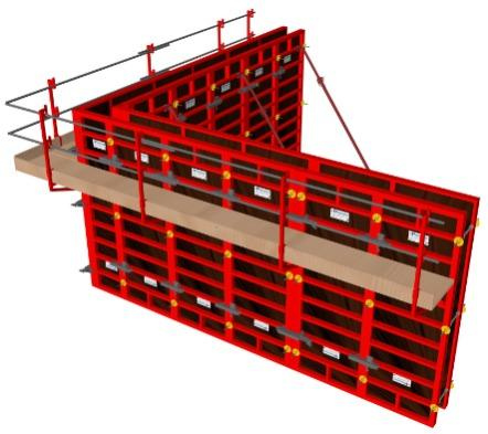 Coffrage modulaire: Banche manuportable aluminium