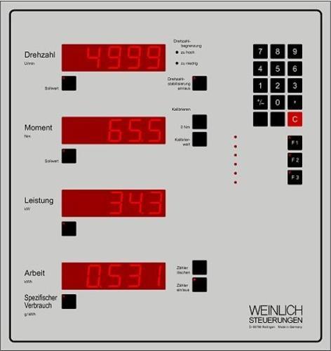Steuer- und Messtechnik für Motorleistungsprüfstände