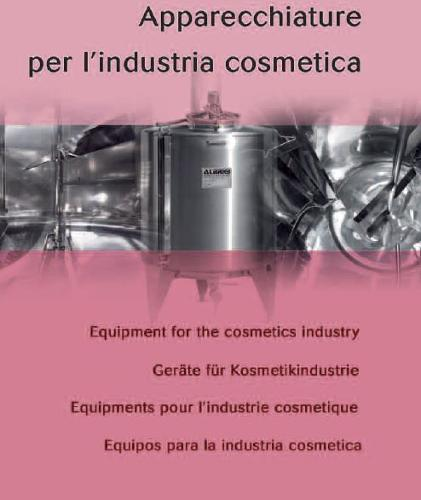 Equipments for cosmetics industry