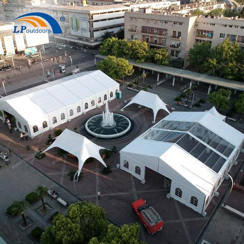 Tente de salon de 15 m d'espace libre pour un événement en p