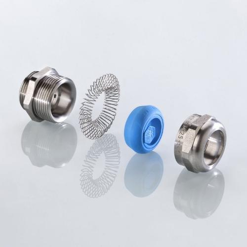 Die EMV-Kabelverschraubung blueglobe TRI® mit UL-Zulassung