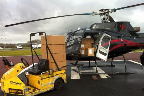 Chartered helicopters