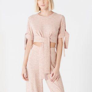 Lavish Alice Deep Bandeau Asymmetric Hem Midi Dress